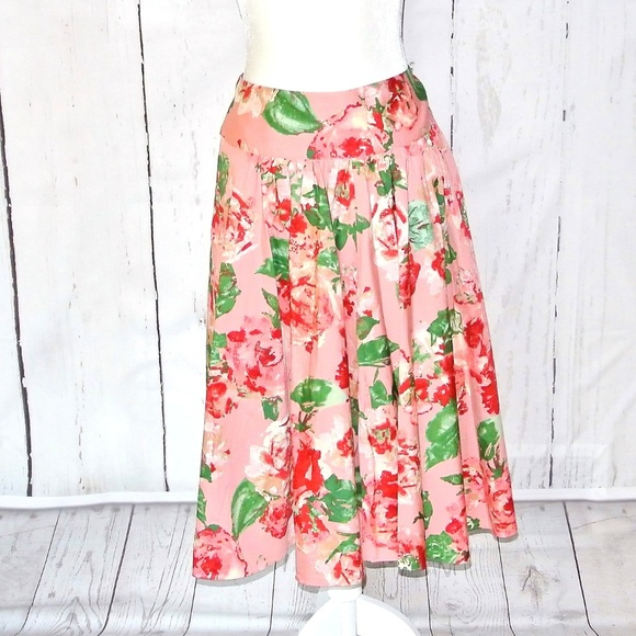 Talbots Dresses & Skirts - Talbots  floral a-line skirt dusty rose Plus 14
